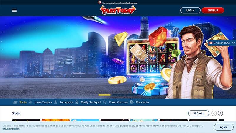playtoro lobby screenshot