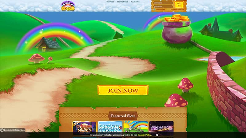 rainbow spins lobby screenshot