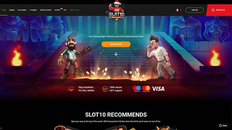slot10 lobby screenshot