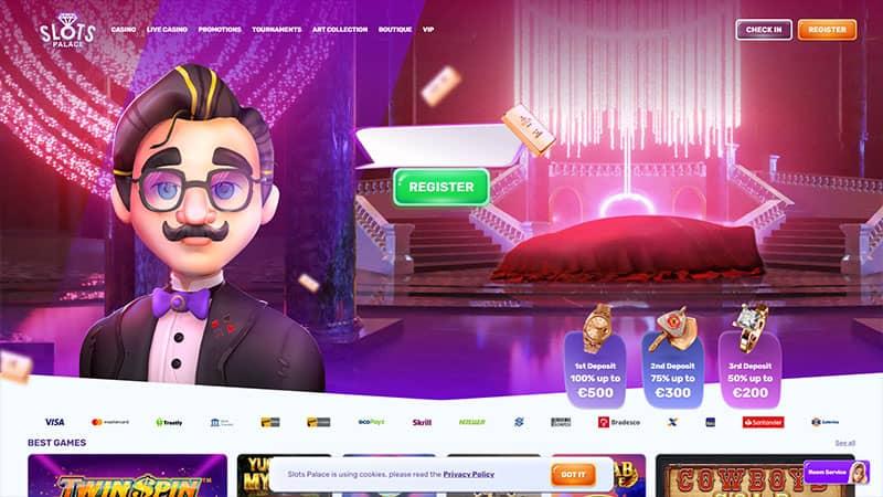 slots palace lobby screenshot