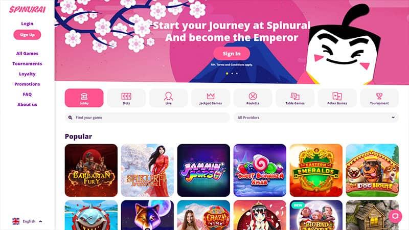 spinurai lobby screenshot
