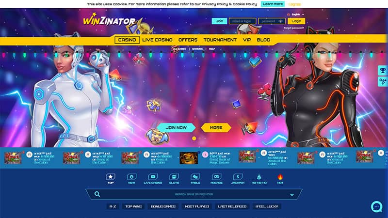 winzinator lobby screenshot