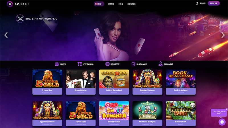 casinobit lobby screenshot