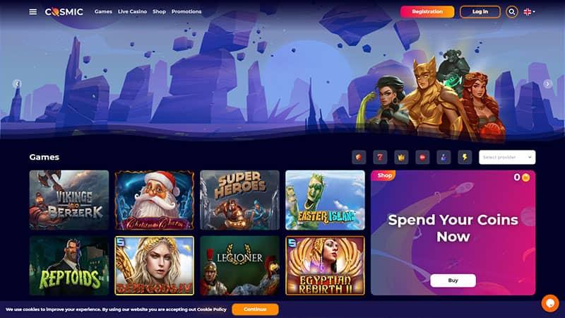 cosmicslot lobby screenshot