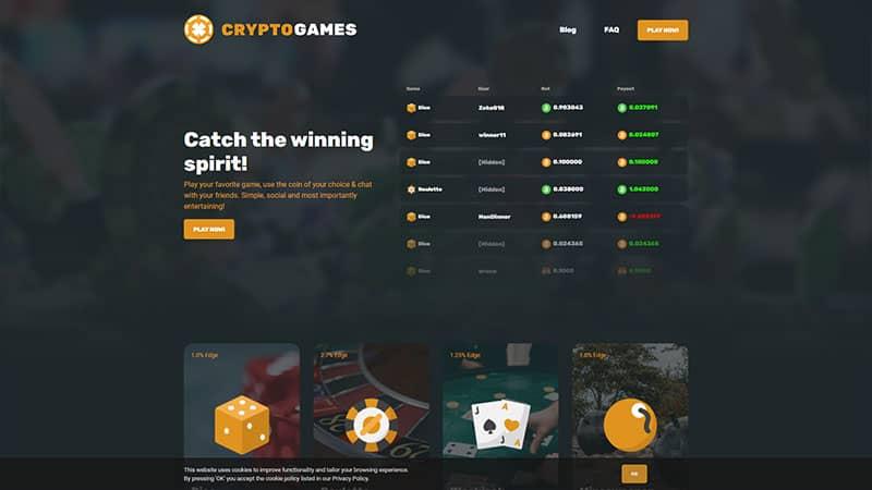 cryptogames lobby screenshot