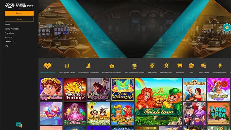 casino superlines lobby screenshot