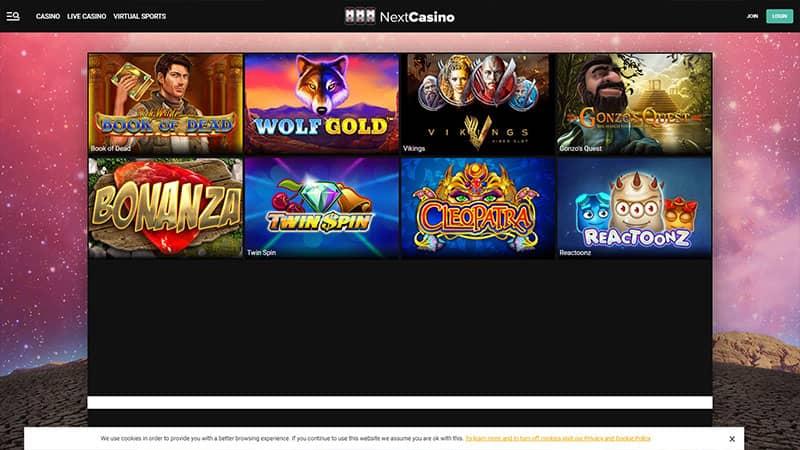 next casino lobby screenshot