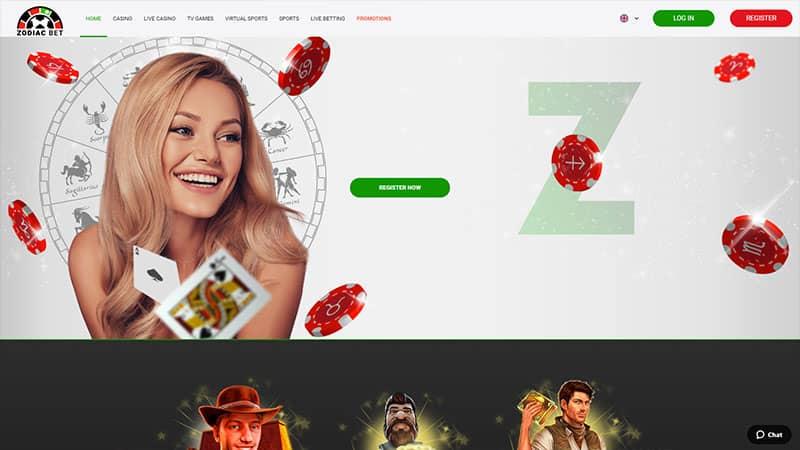 zodiac bet lobby screenshot