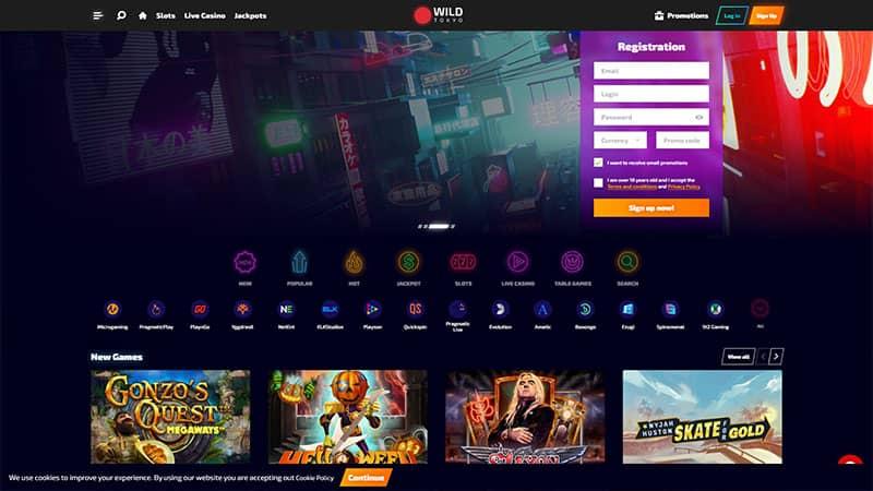 wild tokyo lobby screenshot