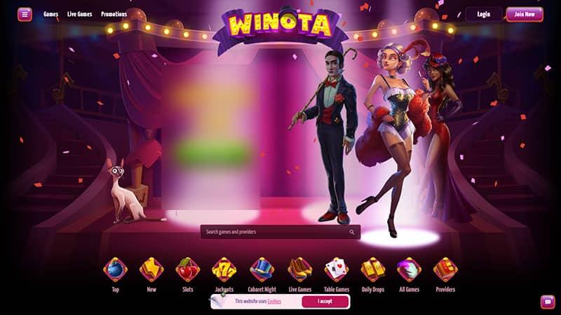 winota lobby screenshot