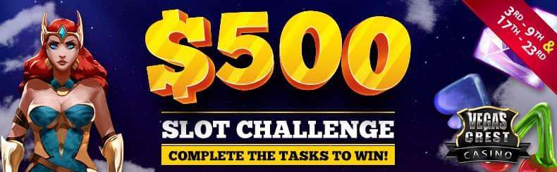 VC 500 slot challenge
