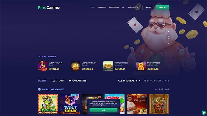 pinocasino lobby screenshot