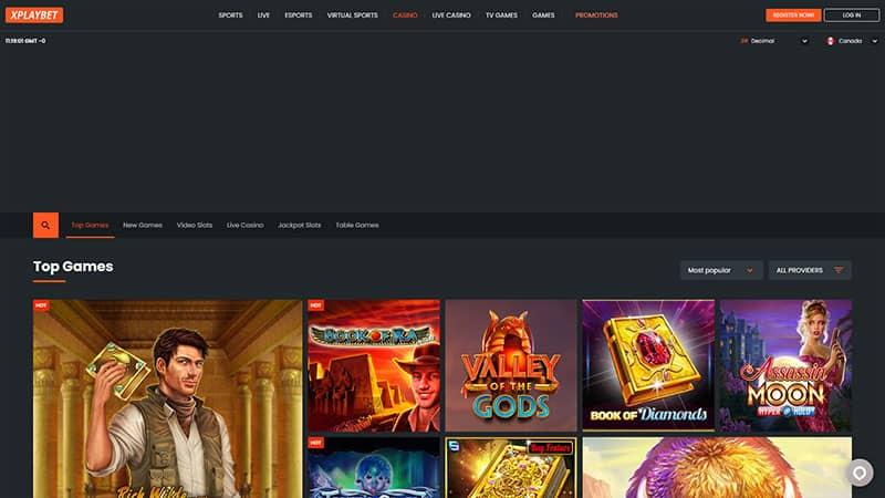 xplaybet lobby screenshot