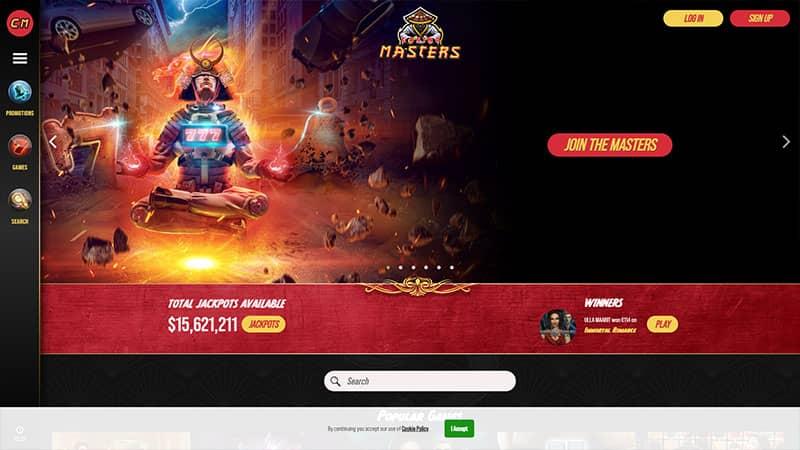 casino masters lobby screenshot