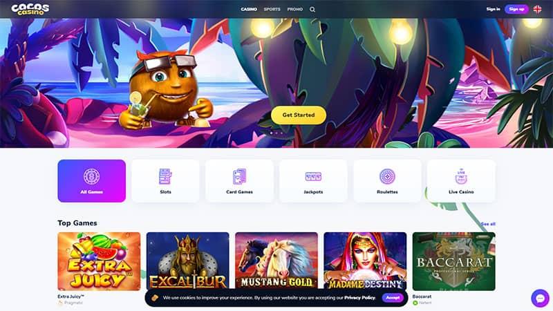 cocors casino lobby screenshot