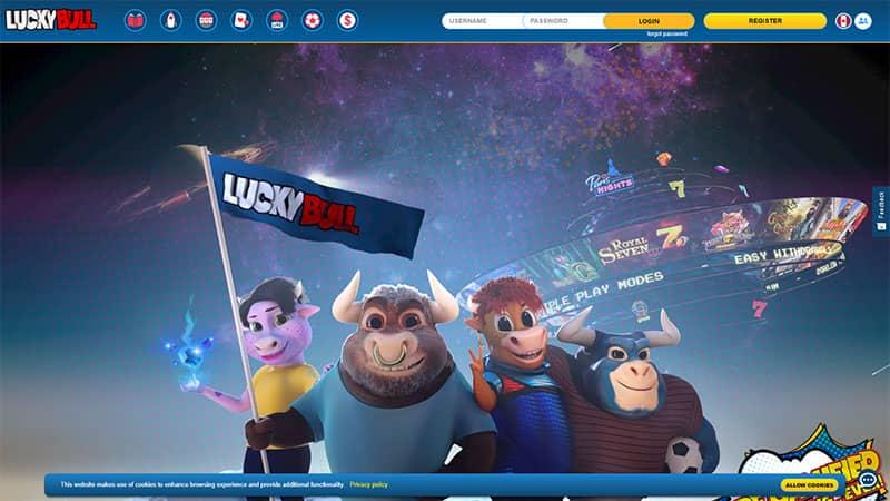 luckybull lobby screenshot