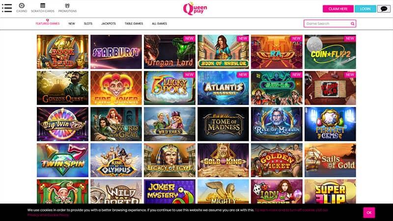 queenplay lobby screenshot