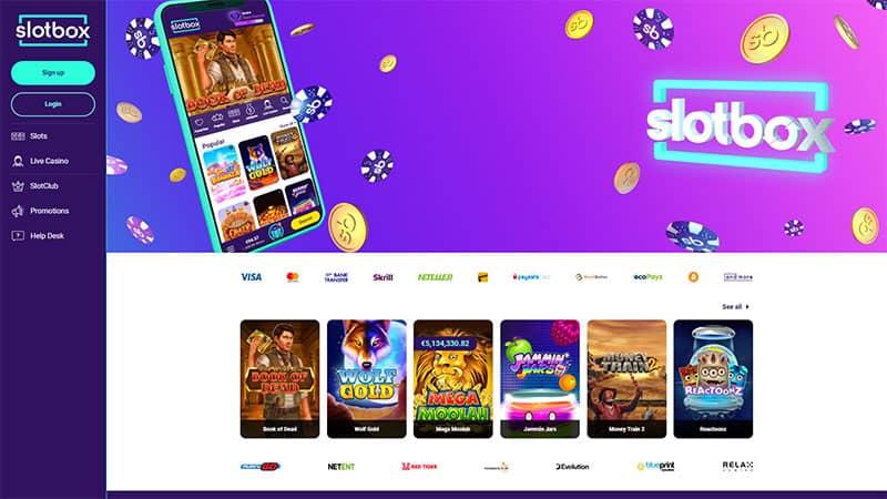 slotbox lobby screenshot