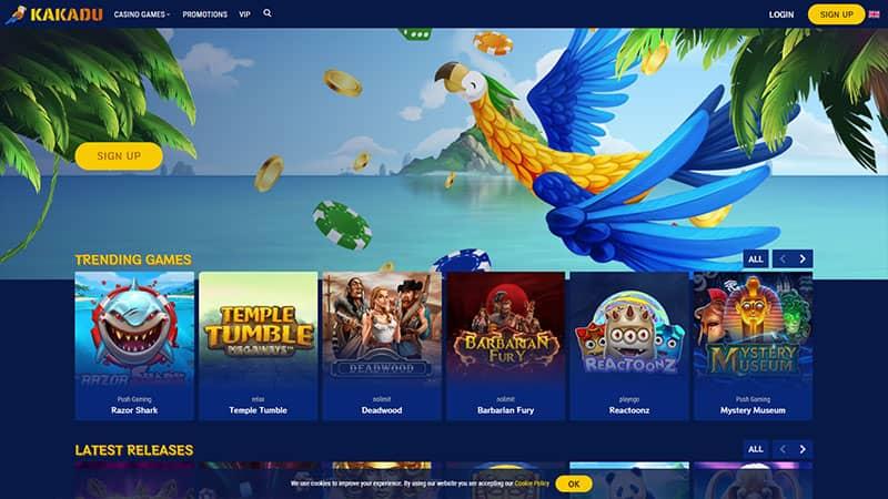 kakadu casino lobby screenshot
