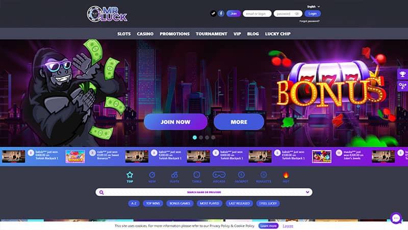 mrluck lobby screenshot