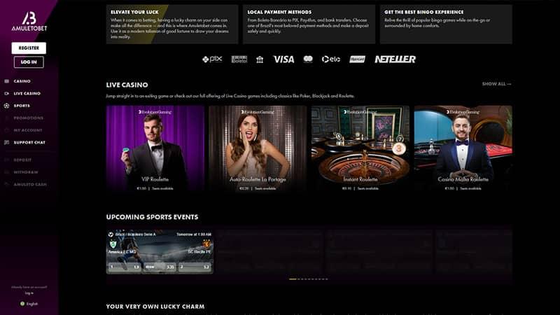amuletobet lobby screenshot