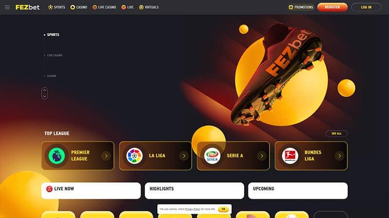 fezbet lobby screenshot