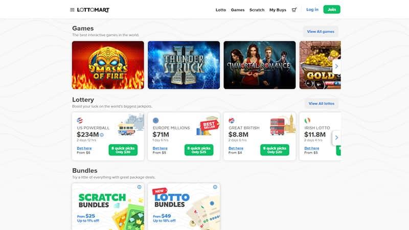 lottomart lobby screenshot