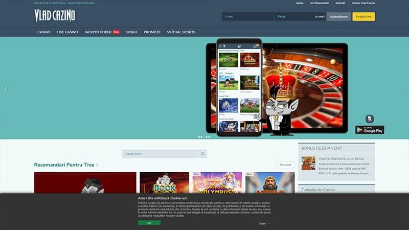 vlad cazino lobby screenshot