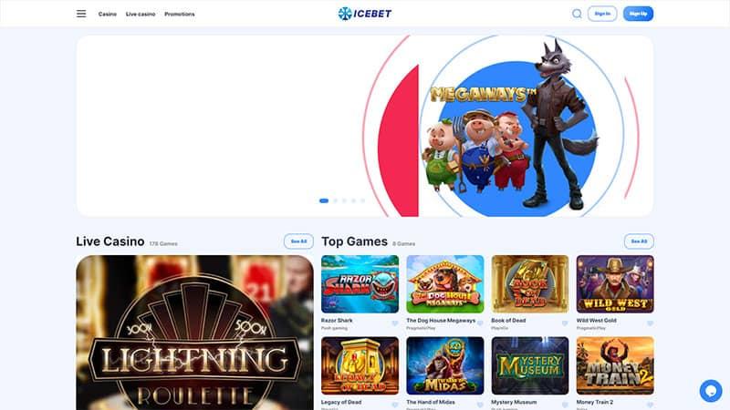 icebet lobby screenshot