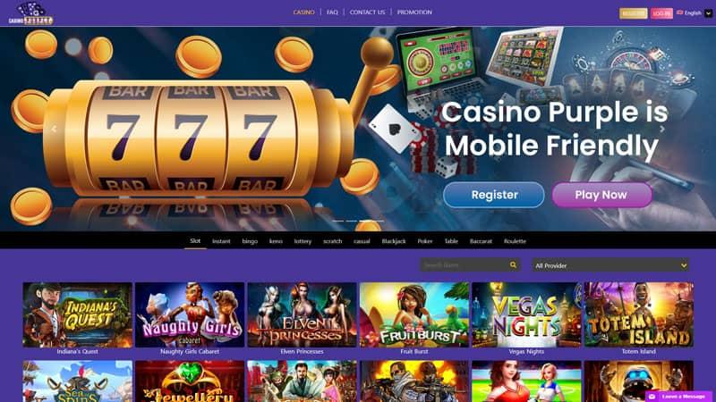 casino purple lobby screenshot