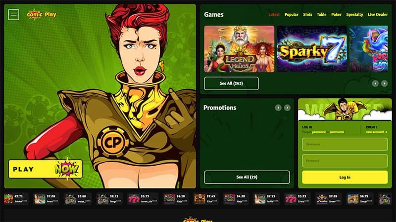 comicplay lobby screenshot