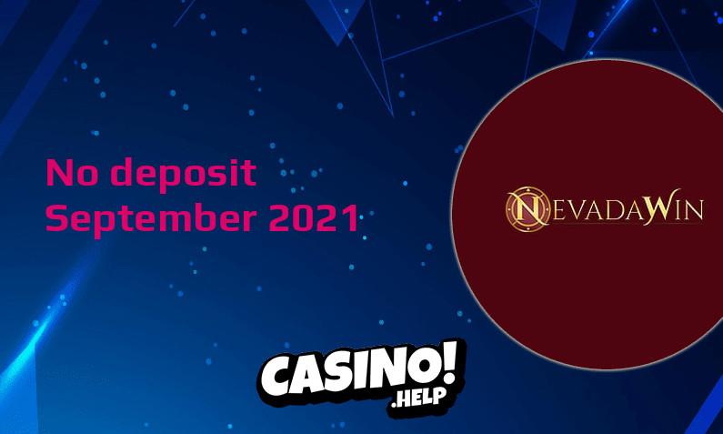 Latest no deposit bonus from Nevada Win 23rd of September 2021